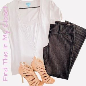 Other - Cream Camisole & Cardigan Set with INC Pants